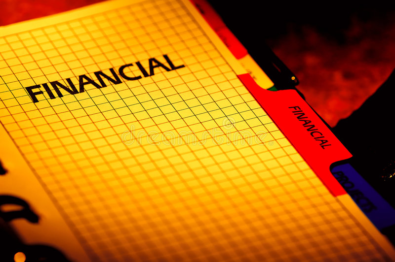 Pianificatore finanziario immagine stock