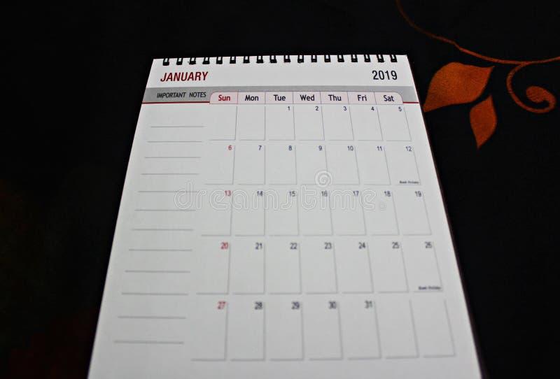 Pianificatore o calendario del nuovo anno fotografia stock