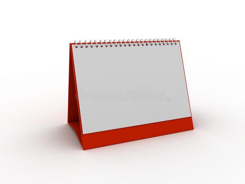 Pianificatore o calendario quotidiano fotografie stock