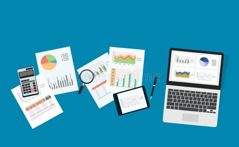 Pianificazione aziendale e investimento aziendale illustrazione di stock
