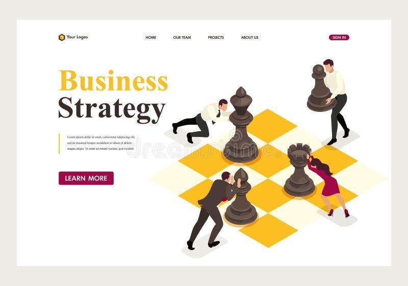 Pianificazione aziendale strategica isometrica illustrazione vettoriale