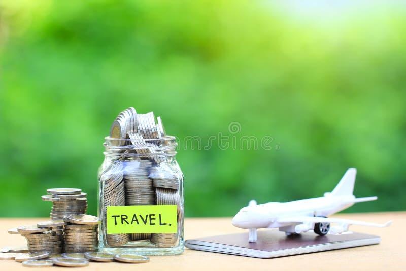 Pianificazione per il bilancio di viaggio del concetto di festa, finanziario, S di risparmio fotografia stock libera da diritti