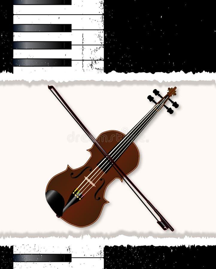 Pianina I skrzypki plakat ilustracja wektor
