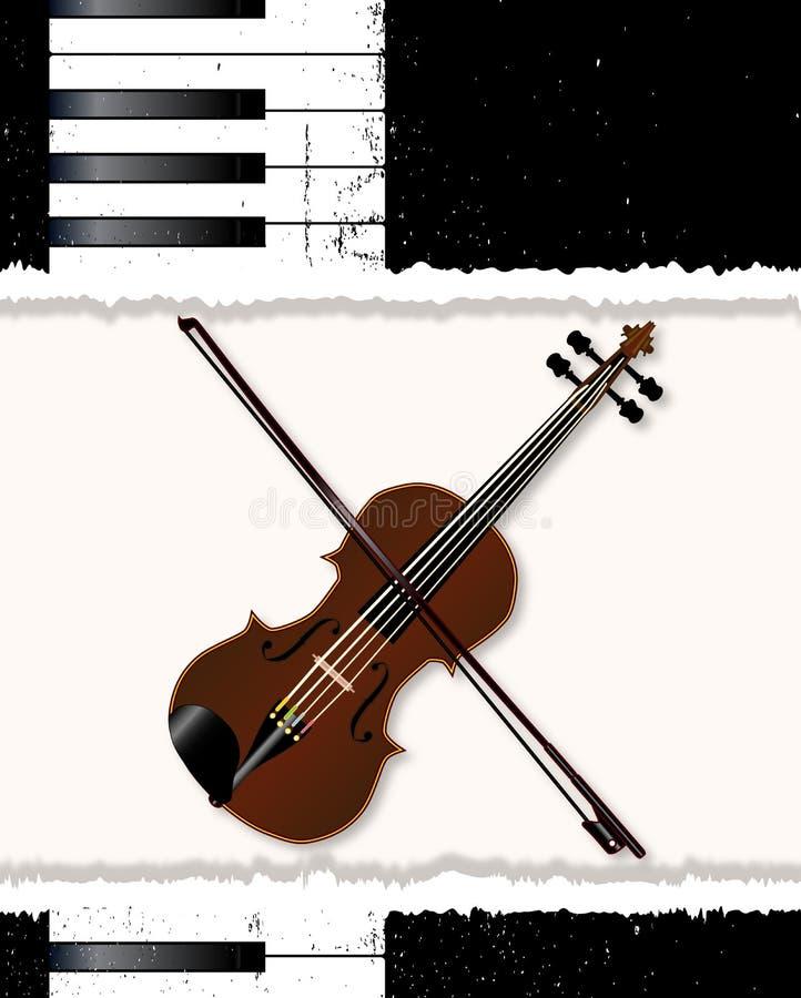 Pianina I skrzypki plakat royalty ilustracja
