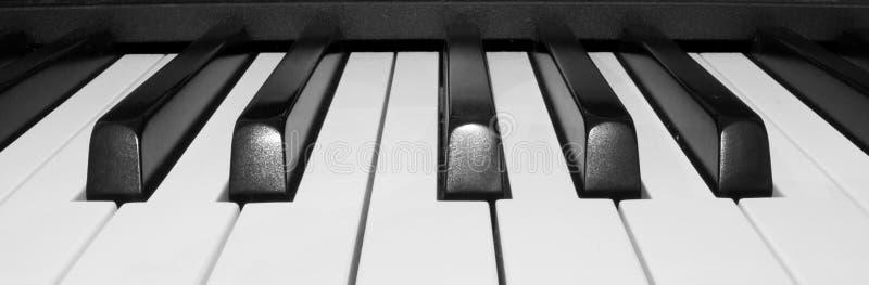 Pianino czarny i biały obraz stock