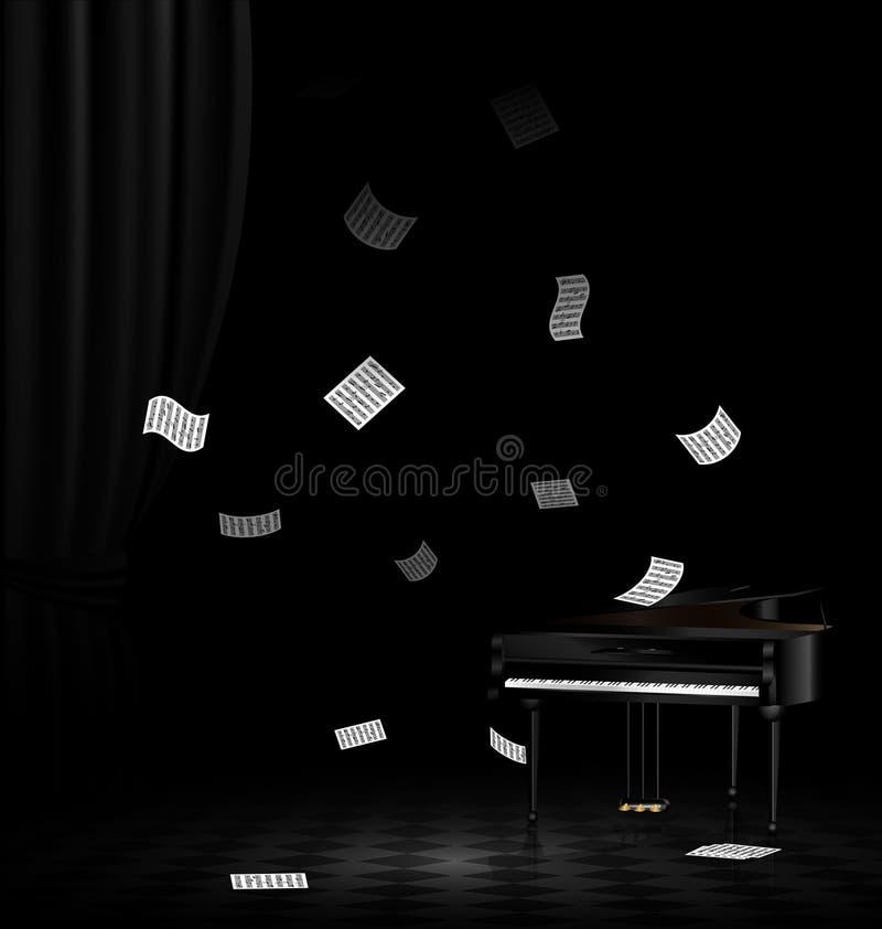 pianino i latanie notatka royalty ilustracja