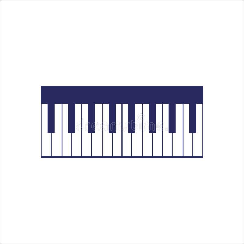 Pianino, piano keyboard icon . Pianino, piano keyboard icon isolated sign symbol. Flat Vector illustration stock illustration