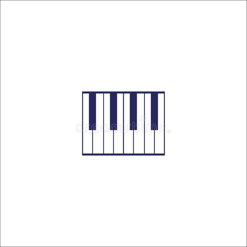 Pianino, piano keyboard icon . Pianino, piano keyboard icon isolated sign symbol. Flat Vector illustration royalty free illustration