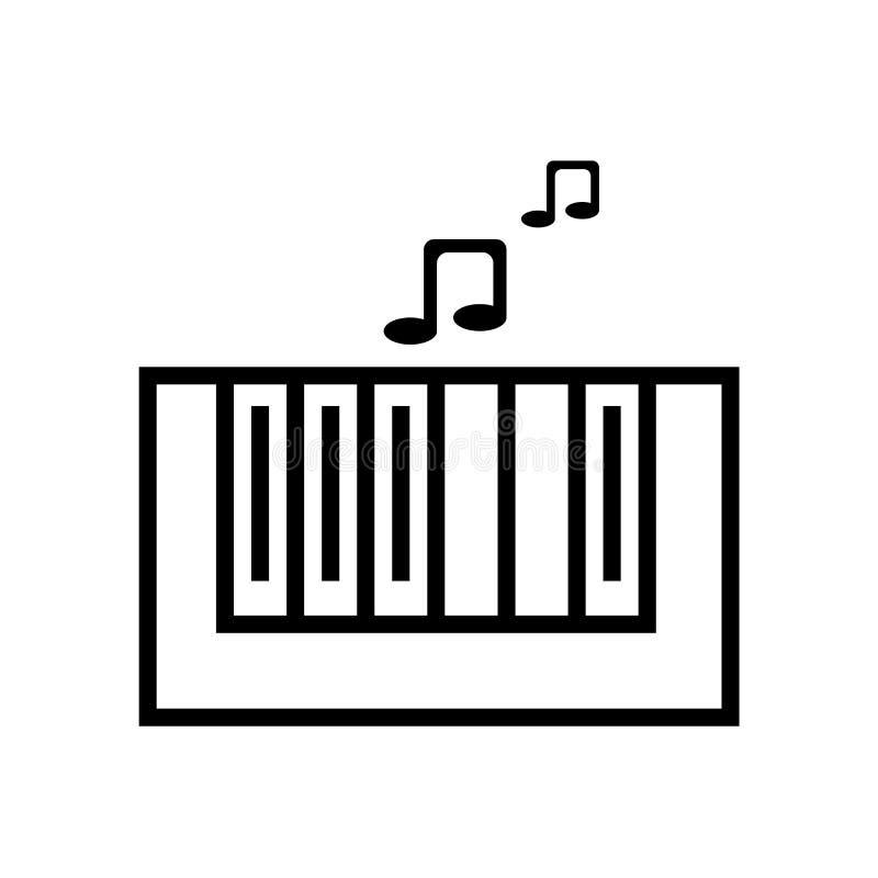 Pianino ikony Klasowy wektor odizolowywający na białym tle, pianino klasy znak, liniowy symbol i uderzenie projekta elementy w ko ilustracja wektor