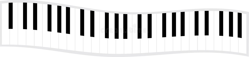 pianino klawiaturowa fale ilustracji