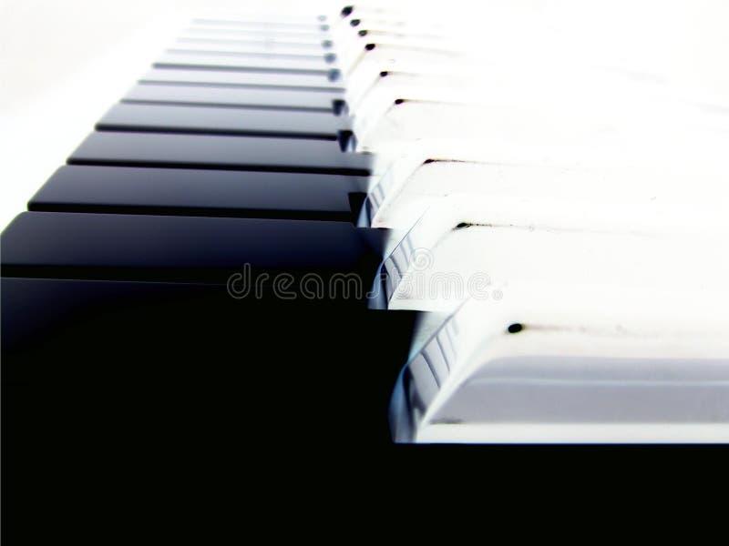 pianino klucza gładko fotografia stock