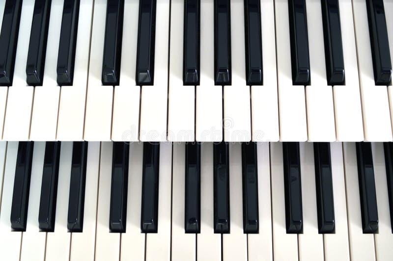 Pianino klucza 2 rząd zdjęcia royalty free