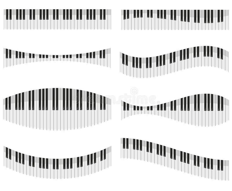 Pianino klucze dla różnych form projekt ilustracja wektor