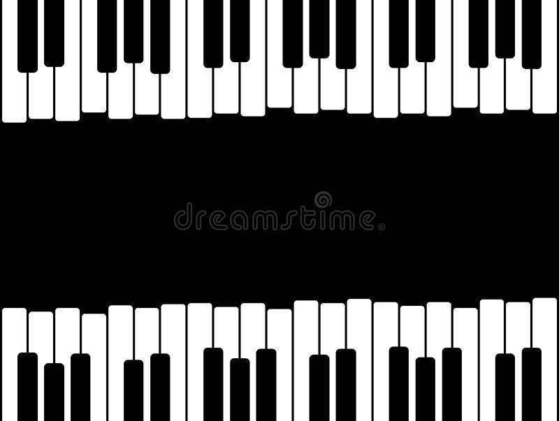 Pianino klucze z kopii przestrzenią royalty ilustracja