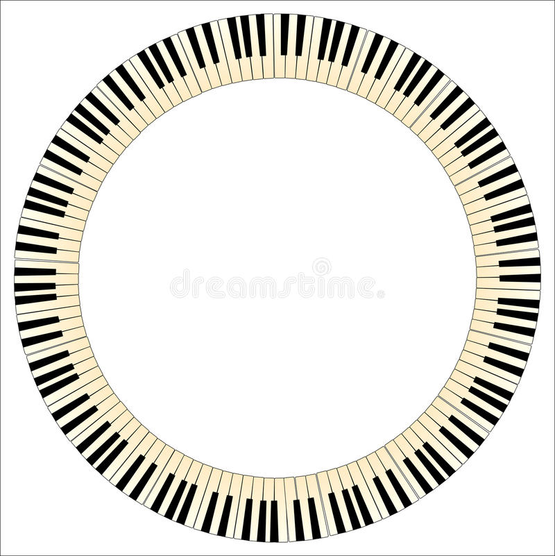 Pianino kluczy okrąg ilustracji