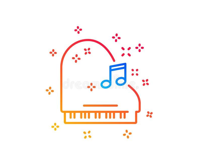 Pianino kreskowa ikona Instrumentu muzycznego znak wektor royalty ilustracja