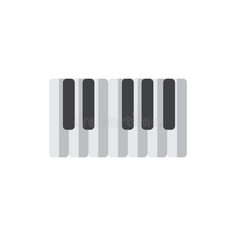 Pianino wpisuje płaską ikonę, wypełniający wektoru znak, kolorowy piktogram odizolowywający na bielu royalty ilustracja