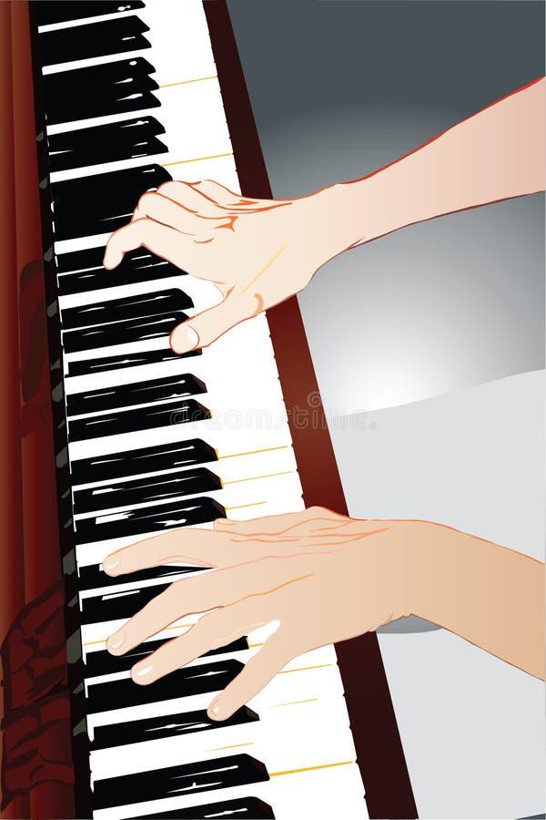 pianist χεριών διανυσματική απεικόνιση