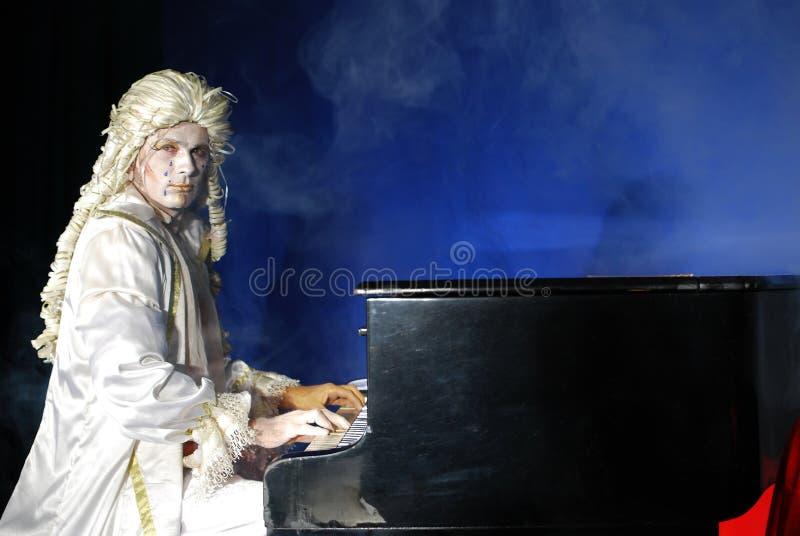 Pianist stock foto's