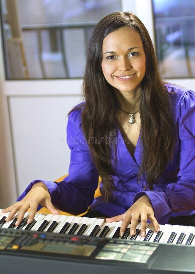 Pianist royalty-vrije stock afbeeldingen