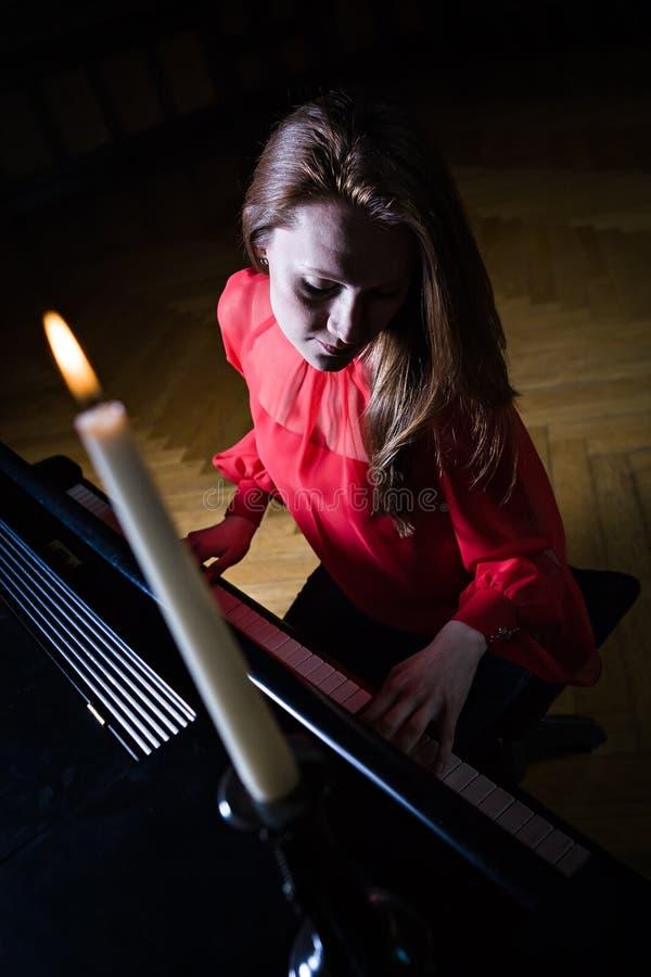 Pianist stock afbeeldingen