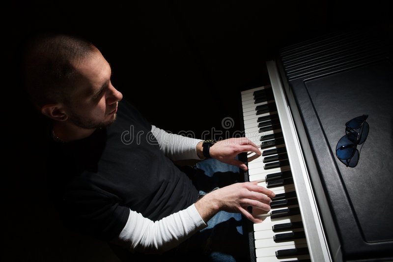 Pianist stock photos