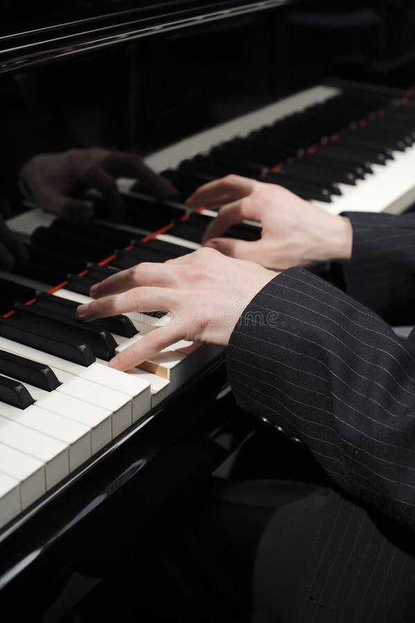 Pianist royalty-vrije stock foto