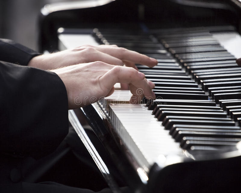 Download Pianist Playing Piano Royalty Free Stock Photography - Image: 15986187