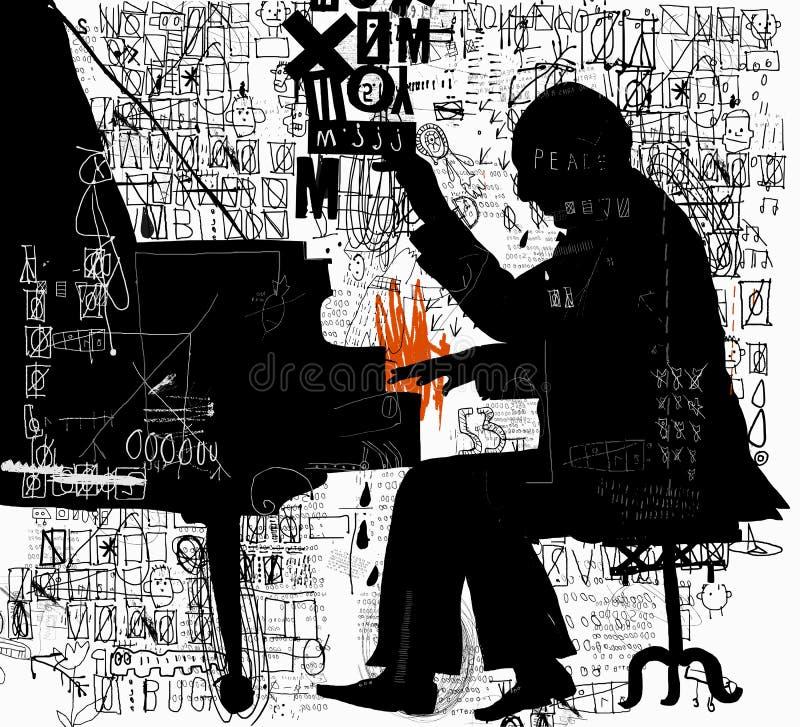 pianista royalty ilustracja