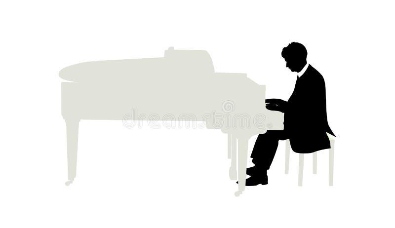 Pianista ilustração royalty free
