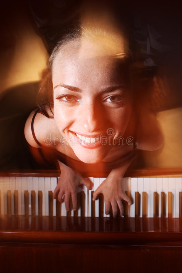 pianista obrazy royalty free