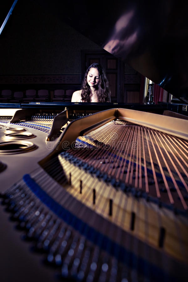 Pianista zdjęcia royalty free