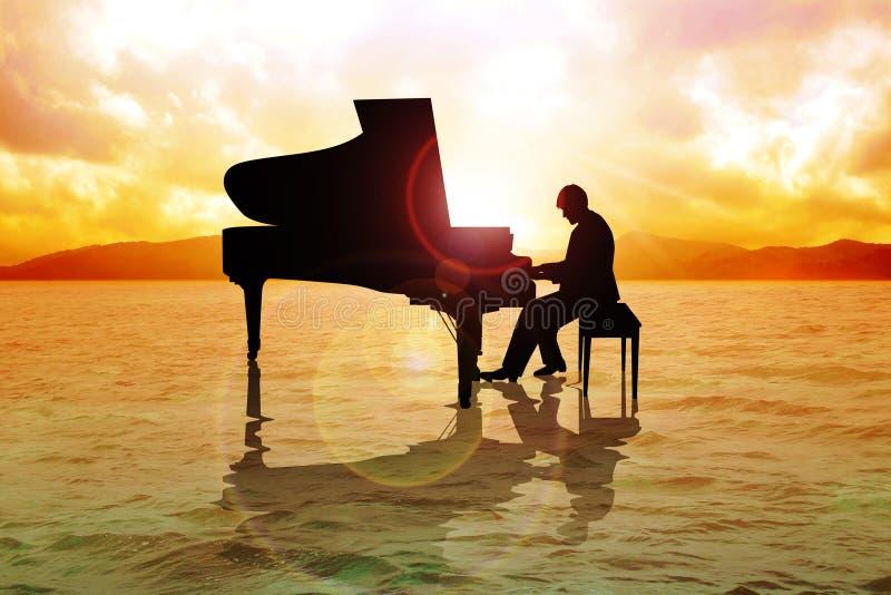 Pianista ilustración del vector