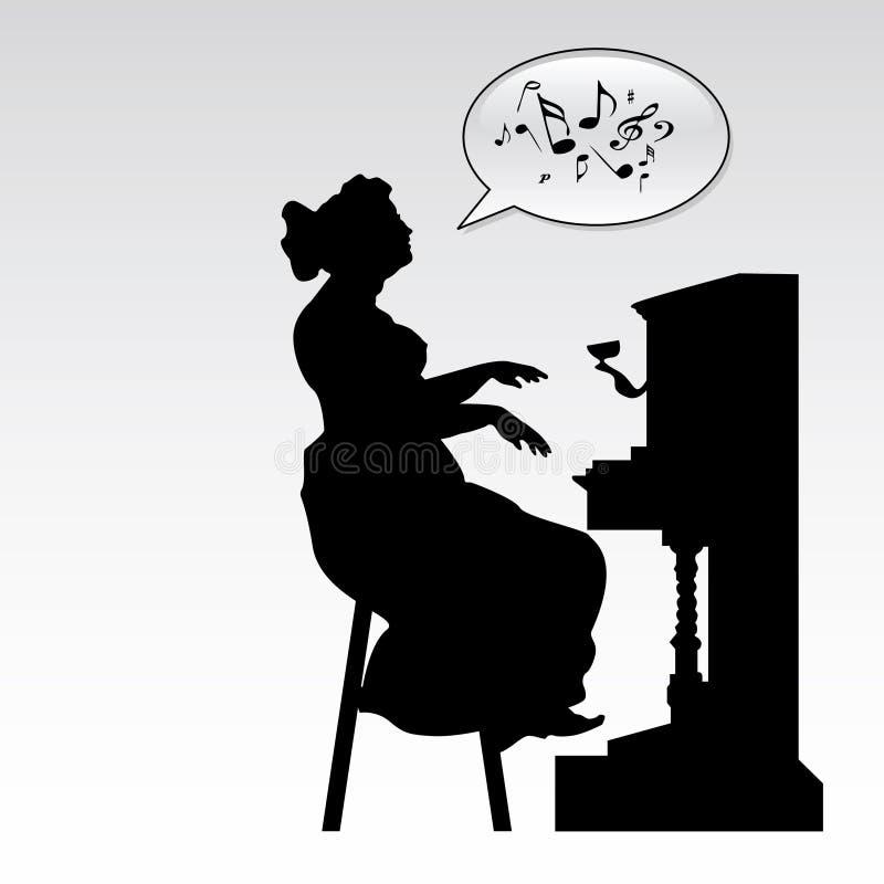 Pianista illustrazione di stock