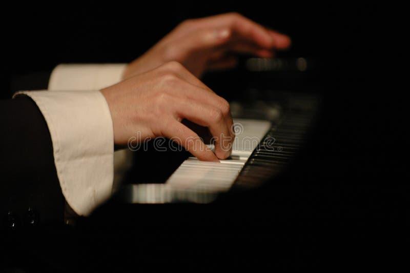 Pianista di concerto fotografia stock libera da diritti