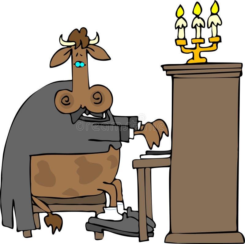 Pianiste de vache illustration libre de droits