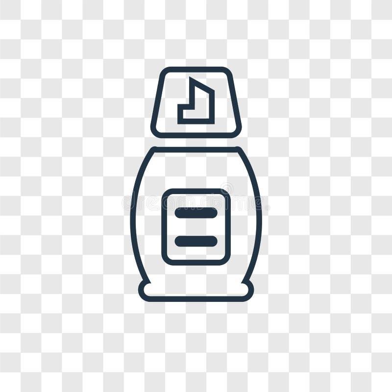 Piankowego pojęcia wektorowa liniowa ikona odizolowywająca na przejrzystym backgrou ilustracja wektor