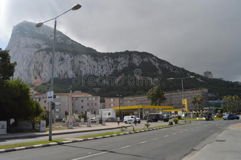 Piankowy skutek Na El Peñon W Gibraltar fotografia royalty free