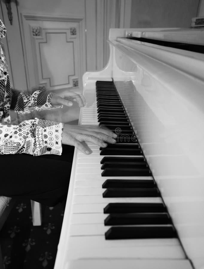 Piano à queue photo stock
