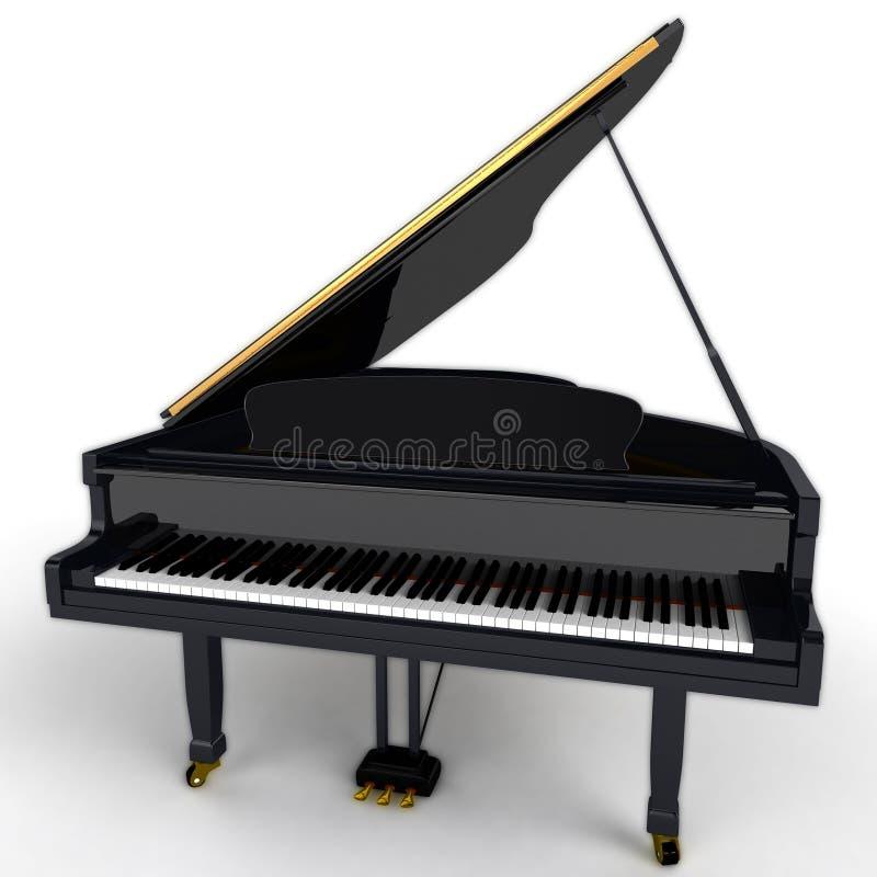 Piano à queue noir photos libres de droits