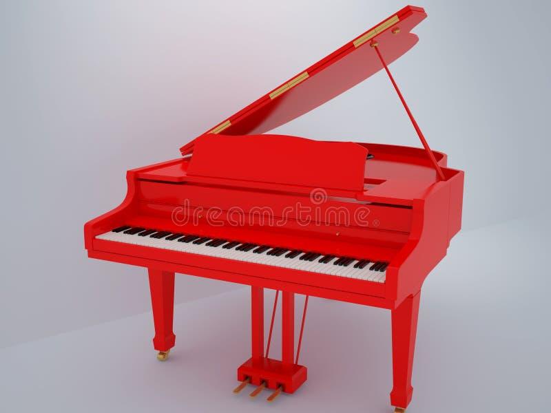 Download Piano ilustração stock. Ilustração de arte, decoração - 12809652