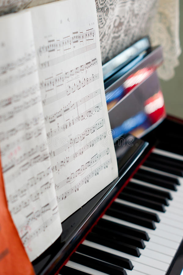 Download Piano stock image. Image of instrument, notes, piano - 16559407
