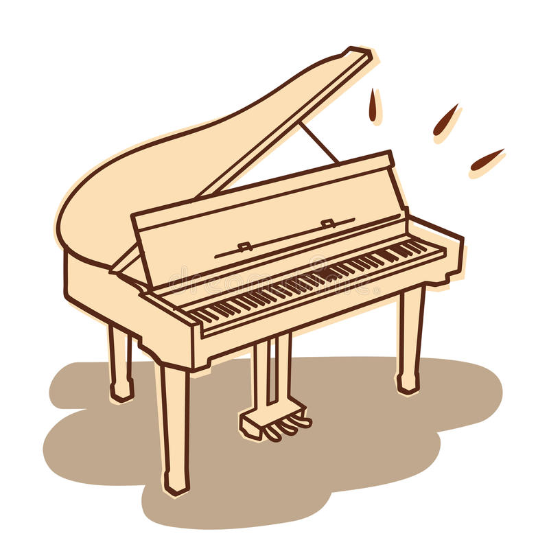 Piano vector. Illustrations of a piano isolated on white + vector eps file vector illustration