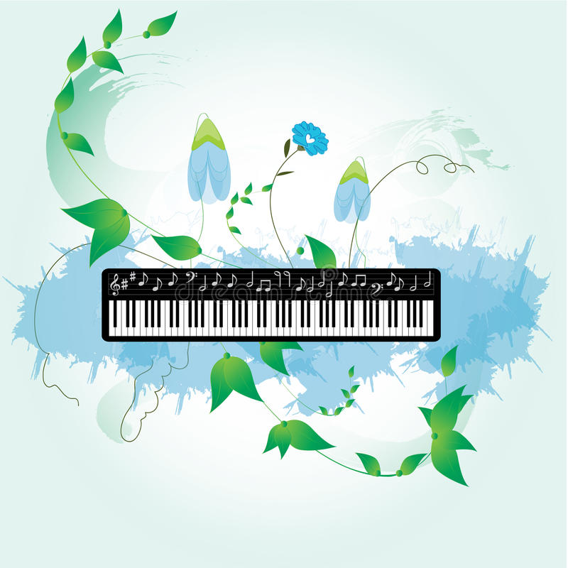 Download Piano stock vector. Image of octave, melody, harmony - 25701447