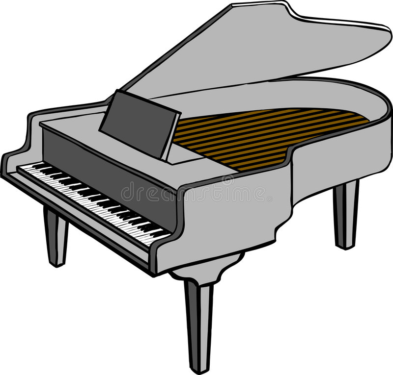 Download Piano stock vector. Image of clipart, isolated, vector - 2570851