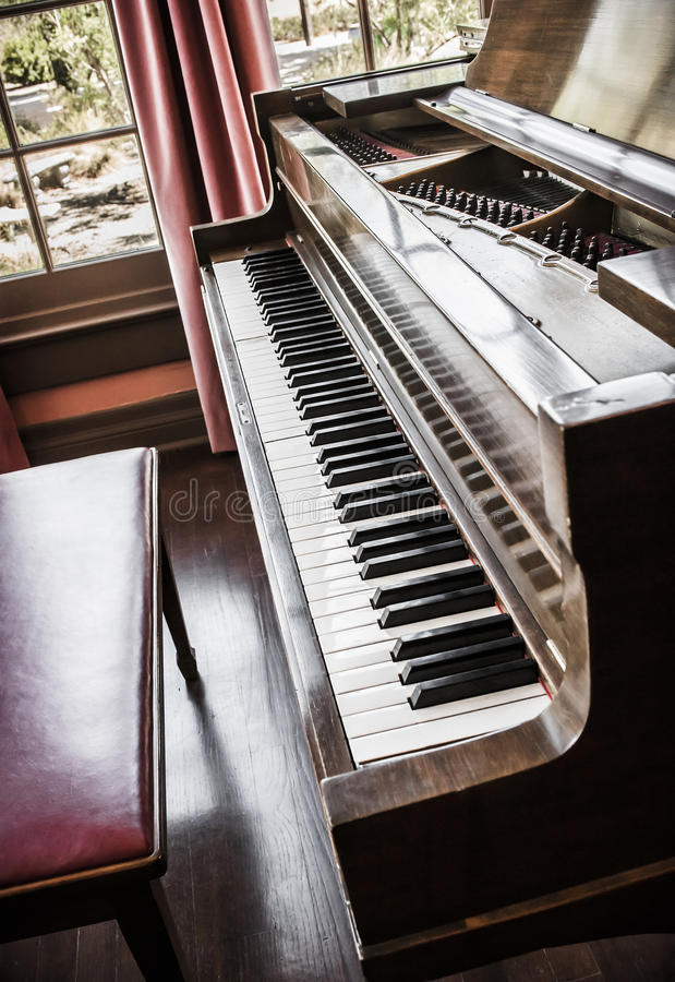 Download Piano stock image. Image of tune, window, furniture, stringed - 25726695