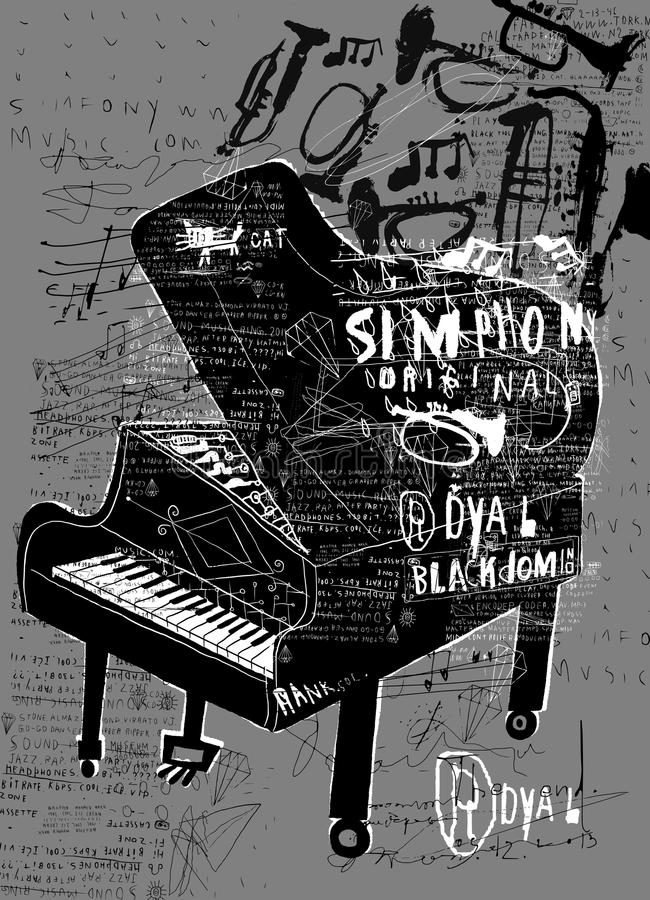 Piano. Symbolic image of the piano vector illustration