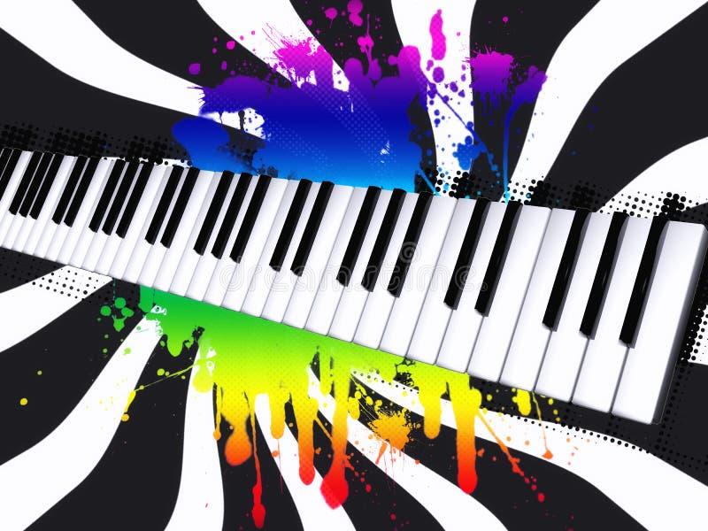 Piano ilustração stock