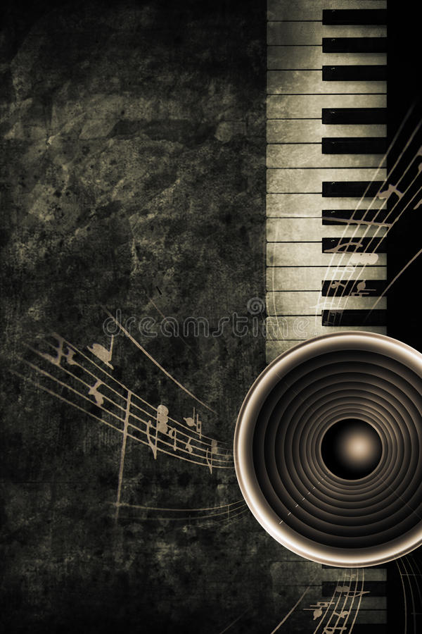 Download Piano stock illustration. Image of poster, ancient, marked - 9758871