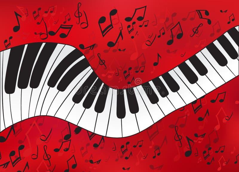 Piano abstrait illustration stock